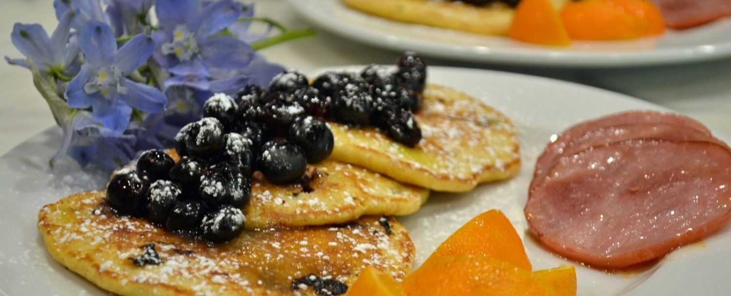 Blueberry Pancakes with Lemon Curd