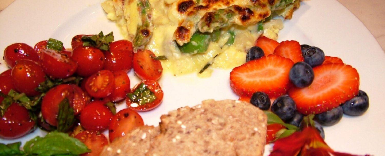 Asparagus & Goat Cheese Fritatta