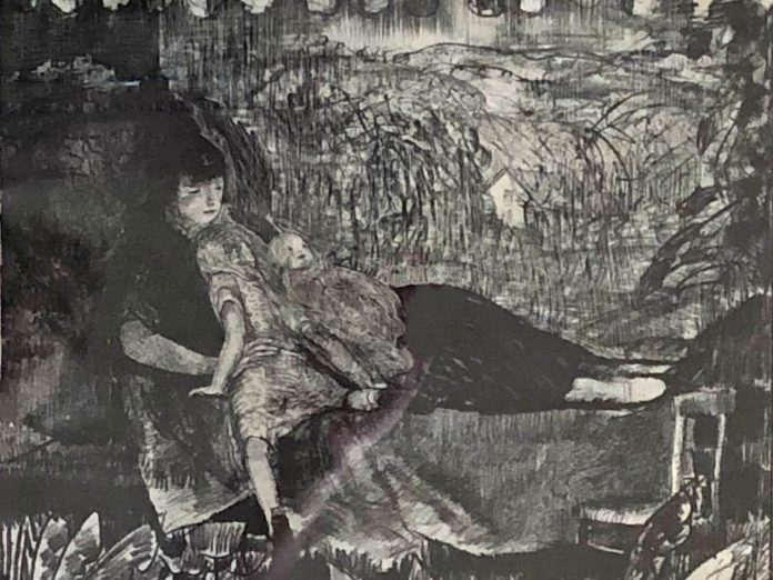 George Bellows Stone Lithograph Mother & Child