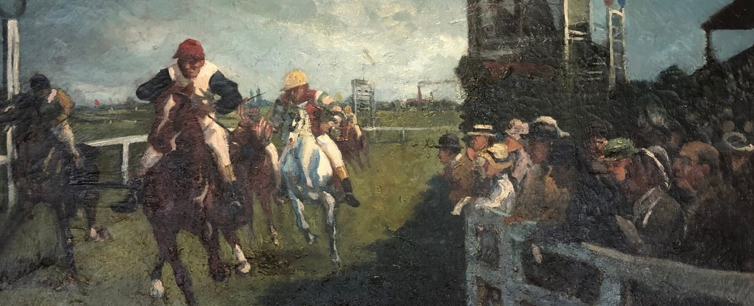 Horse Racing Scene - Artist Unknown