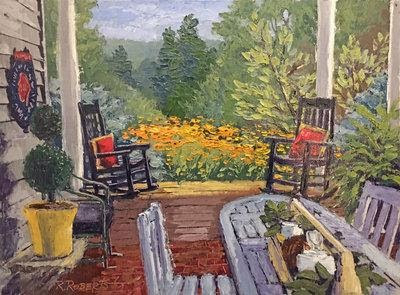 """Limited Edition Print, Signed and Numbered """"Breakfast View"""" – Robin Roberts"""