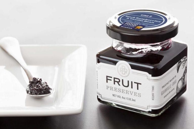 King B Black Raspberry Preserves with Vanilla Bean and Candied Lemon Zest   The Welsh Hills Inn