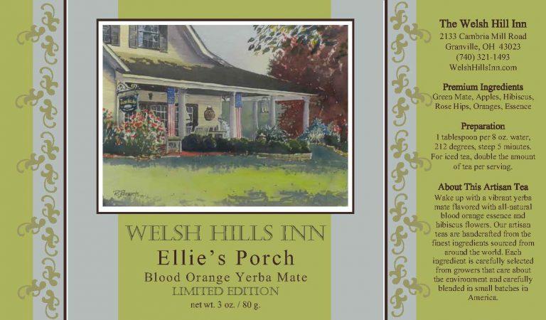 Ellie's Porch Tea Label
