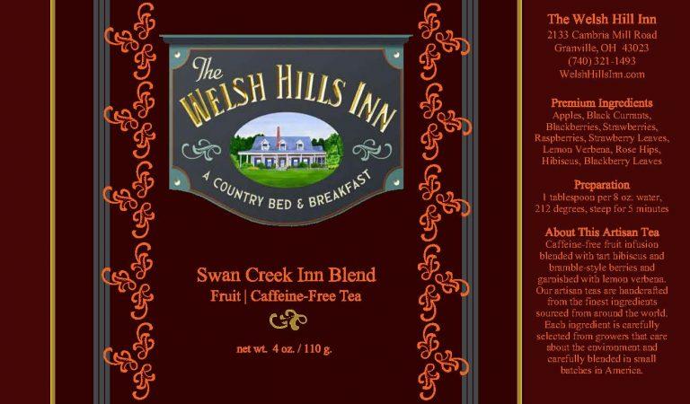 Swan Creek Herbal Tea Label | The Welsh Hills Inn
