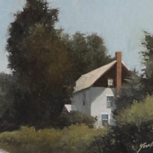 Front Entrance | by James Young Artist | The Welsh Hills Inn | Historic Granville Ohio