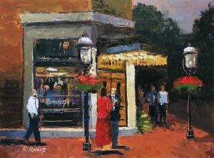 Robin Roberts | Lindey's at Night | The Welsh Hills Inn