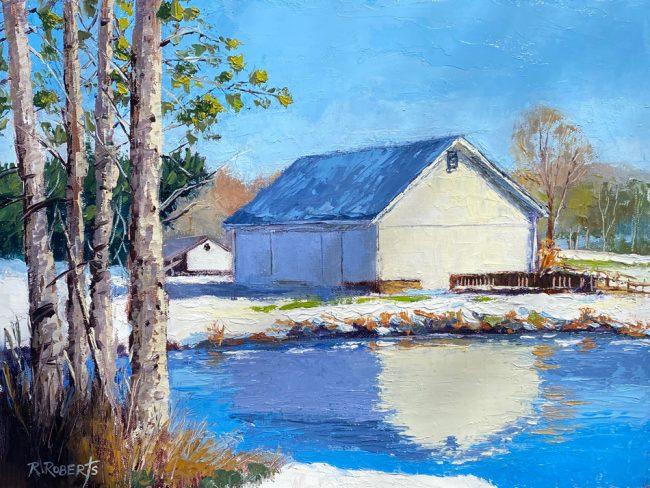 "Ohio Artist Robin Roberts | ""White Winter Reflections"" | 2020 | The Welsh Hills Inn"